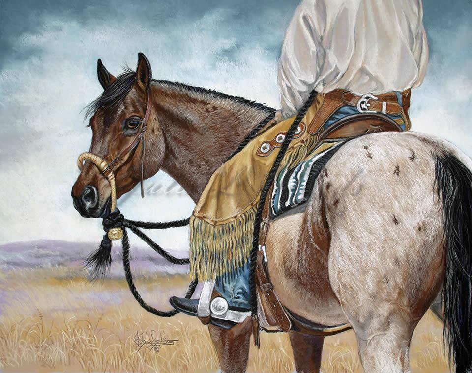 Cowboy Horse Looking Back Prints